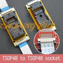 Programma di Prova nuovo TSOP48 On line test socket SMD saldatura TSOP48 TSOP48 ic socket Adapter Passo = 0.5mm