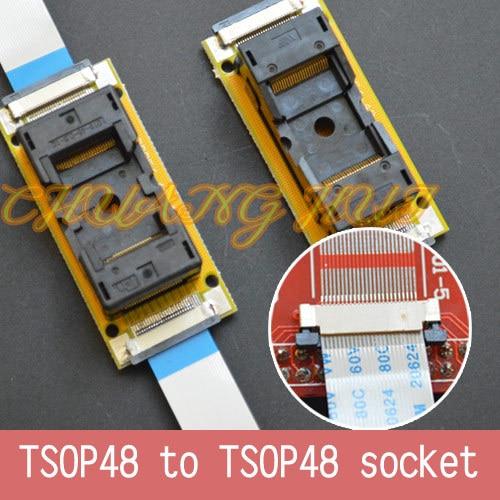 Новинка, программируемое тестирование TSOP48, штепсельная Вилка для сварки SMD, штепсельная вилка стандартного разрешения = 0,5 мм