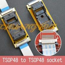Teste do programa novo tsop48 na linha soquete de teste smd solda TSOP48 TSOP48 ic soquete adaptador passo = 0.5mm