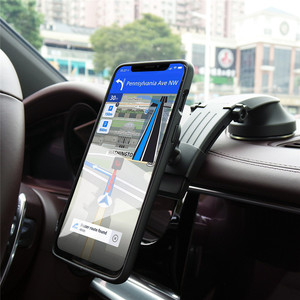 Image 2 - Magnetic Phone Holder for Car Dashboard Windshield Adjustablet Vehicle Phone Stand For iPhone8 XS XR Galaxy S10 Car Phone Mount