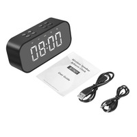 Portable Wireless Bluetooth Speaker Column Subwoofer Music Sound Box LED Time Snooze Alarm Intelligent Home Decoration Gadget