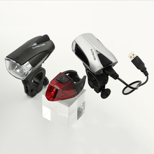 LURHACHI HL3171 Germany Cycling Light Standard StVZO Bike Set USB Rechargeable Headlight Taillight Combinations