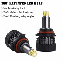 All IN ONE Led Bulb 9006/HB4 Fan 6000 Lumen H7 H8 H9 H11 9005 9012 High/Low Beam High Brightness For Projector Lense Lampada Led