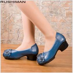 Большие размеры (35-42), удобные женские лоферы ручной работы из натуральной кожи на плоской подошве, Женская Повседневная рабочая обувь