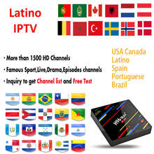 IPTV Brazil Latino Voice Control HD Android TV BOX for Chile Ecuador  Colombia Peru Uruguay Paraguay Argentina Smart TV M3U Code