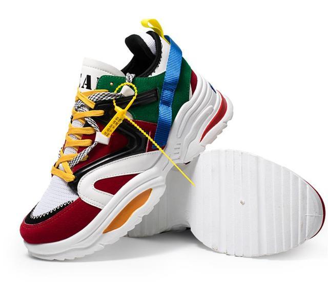 Người đàn ông Giày 2019 Mới Đến Thời Trang Lưới Thoáng Khí Mùa Xuân/Mùa Thu Giày Thường Giày Người Đàn Ông Giày Thời Trang với dày sneakers