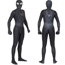 Unisex Kids Spider 3 Black Symbiote 3D Cosplay Costume Zentai Spider Superhero Bodysuit Suit Jumpsuits Halloween