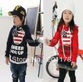 335 # o envio gratuito de 2 roupas cor criança dos desenhos animados hoodies Moq 1 pcs