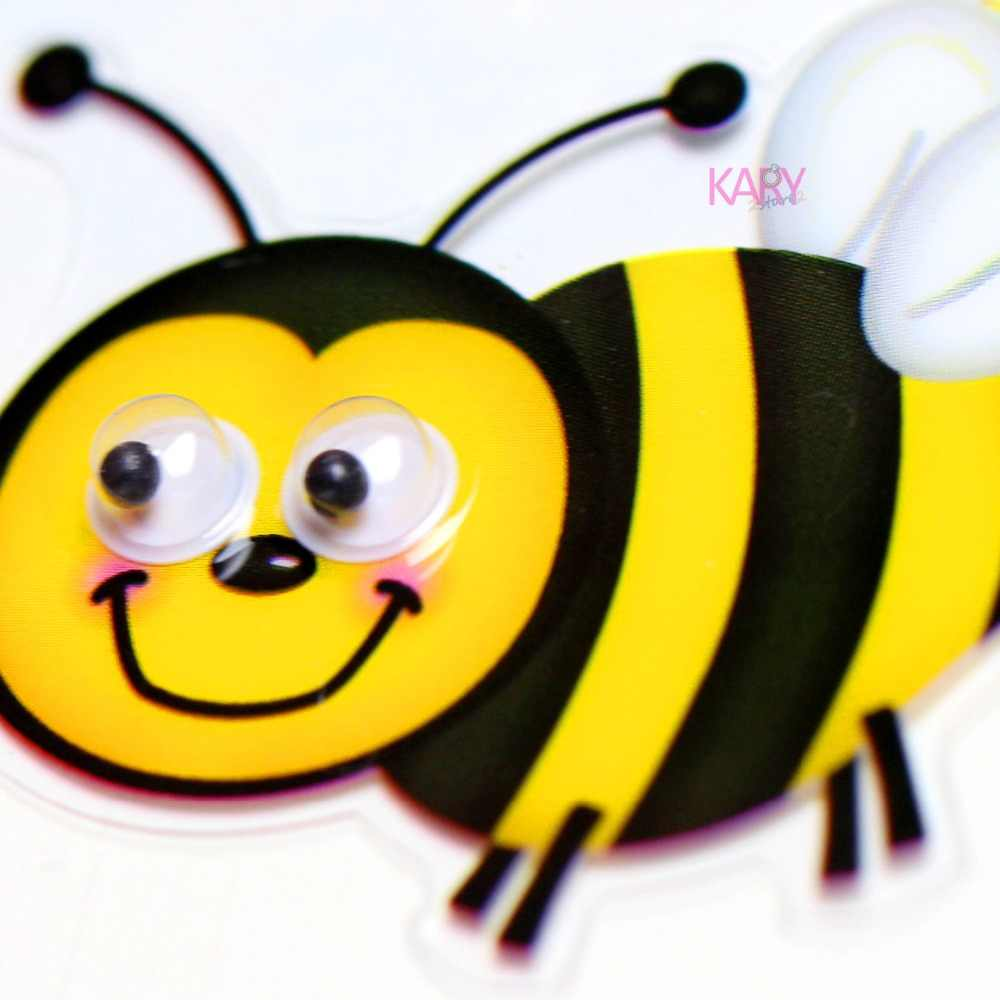 Cute Honey Bees Insect Animals Googly Eyes Scrapbooking Stickers High  Quality Special Emoji Reward Kids Toys For Children -14