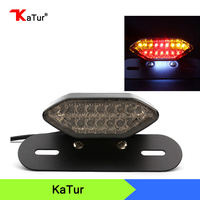 1pcs Motorbike Portable Integrated LED Brake Turn Signals Tail Lights Motorcycle Rear Turn Indicators Accessories Brake