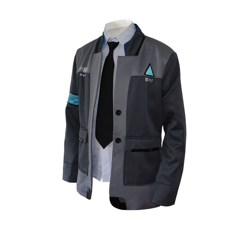 Game Detroit: Become Human Costume Connor Kara Cosplay Movie Fancy Halloween Costumes Disguise Agent Suit Uniform Tight  Adult