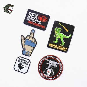 """Image 2 - TSNK Military Enthusiasts Embroidery Patch Army Tactical Badge """"SEAL TEAM /GLOVE/Baby Cart""""Armlet"""