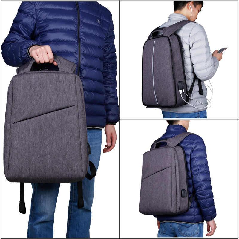 """XQXA тонкий рюкзак для ноутбука для мужчин/женщин с USB и портом для наушников Противоугонный деловой рюкзак Unsex 17,3 """"Повседневный Рюкзак серый"""