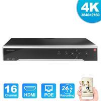 HIK оригинальный H.265 4K NVR 16CH DS-7716NI-I4/16 P Профессиональный POE NVR для системы видеонаблюдения HDMI штепсельный разъем VGA & Play NVR