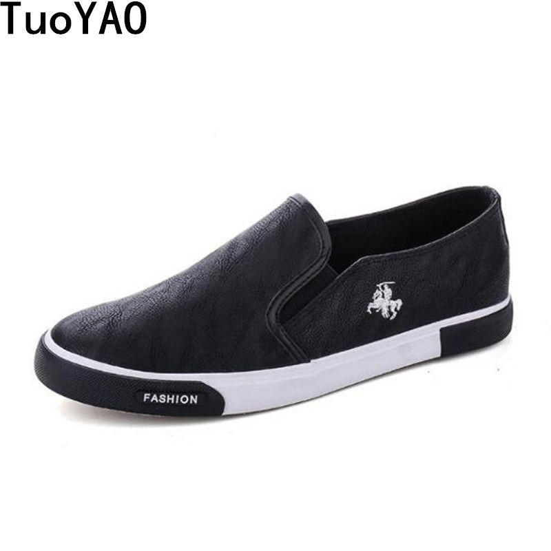 New 2019 Classic Men Slip-On Shoes Men Fashion Shoes PU Leather Casual Shoes Brand Men Sneakers Spring Men Flats Shoes