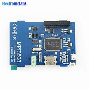 Image 5 - 3.5 inch Physical Resolution 480x320 LCD Display Module LCD HDMI USB Touch Screen Real HD 1920x1080 for Raspberri 3 Model B