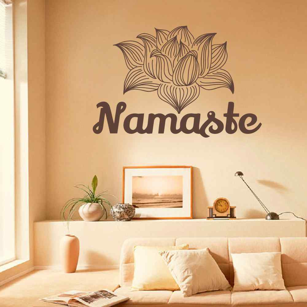 Namaste Wall Decal Lotus Stickers Yoga Studio Vinyl Decals Mandala ...