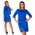 Womens Elegant Lace Through Tunic Casual Club Bridesmaid Mother of Bride Dress Skater Party Large Size Dress
