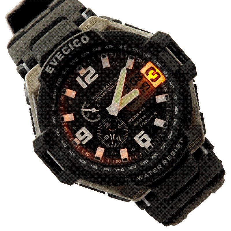 Led submersible waterproof font b dual b font font b display b font outdoor sports watch