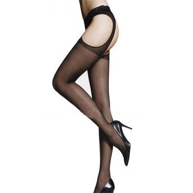 e8b0998bb Women Sexy Open Crotch Pantyhose Stockings Sexy Lingerie Underwear Female  Crotchless Tights Fishnet ukraine Stockings 020jm
