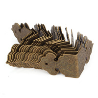 20pcs Bronze Vintage Guards Desk Edge Box Corner Cover Protectors Antique
