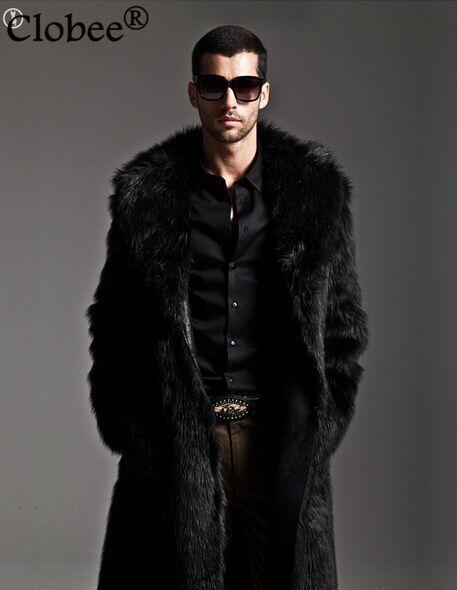 Hommes faux manteaux de fourrure Plus La Taille XXXL De Luxe En Fausse  Fourrure Manteau Travail de Coupe Vent Hommes Long Pardessus Jaqueta Veste D  hiver ... 3a0a22c22c65