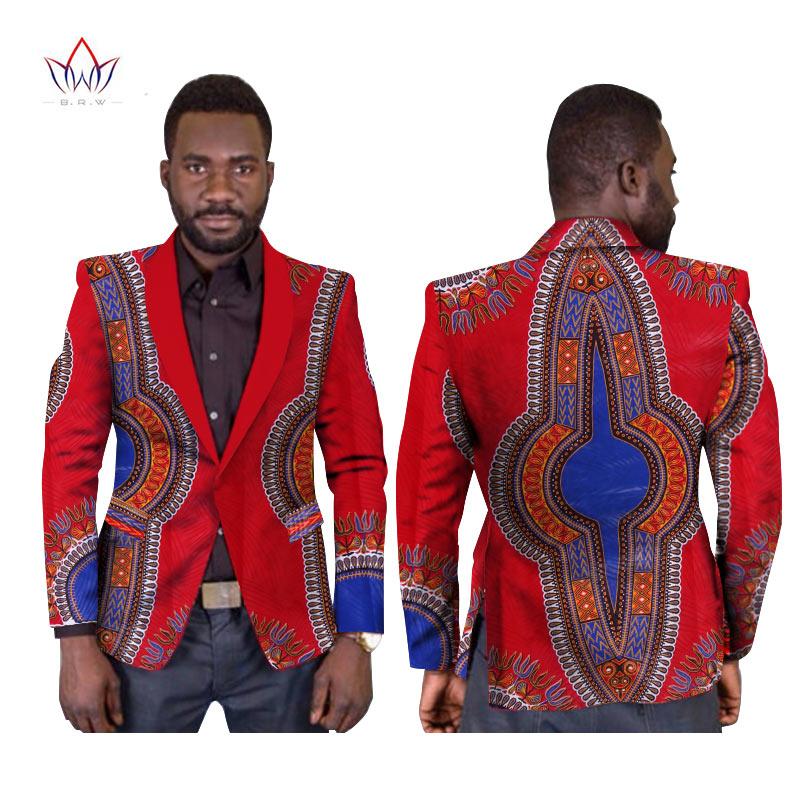 BRW M-6XL New Style African Mens Clothes High Quality Blazer Men Single Button Regular African Dashiki Men Print Clothing WYN169