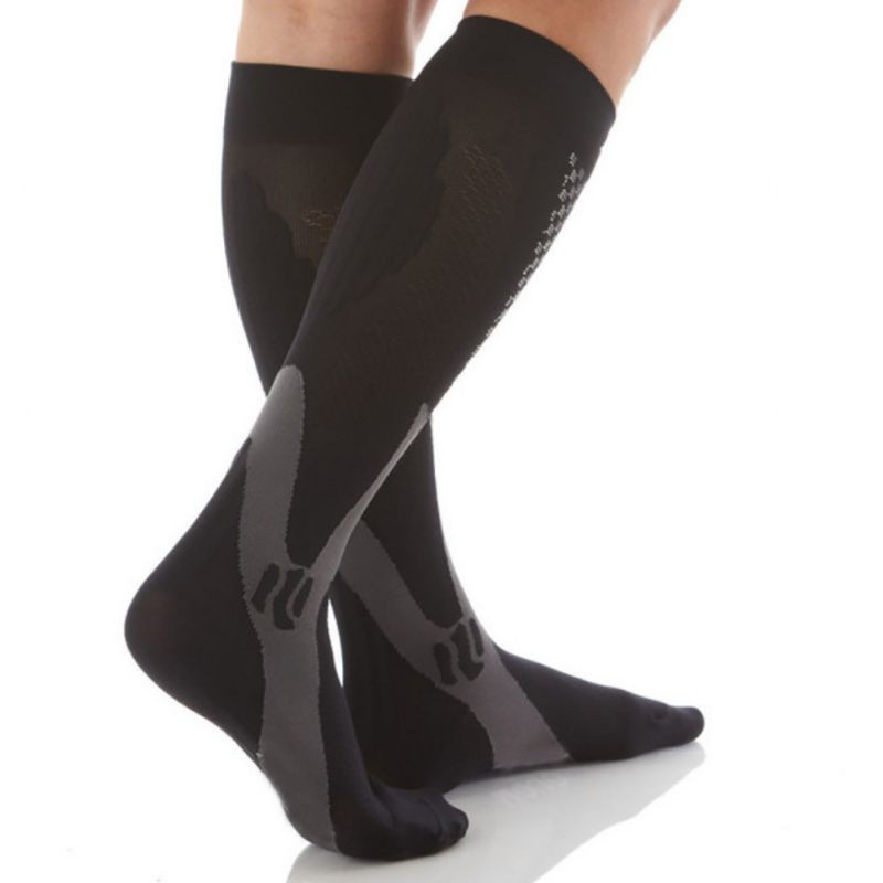 HTB1NejSXL1H3KVjSZFBq6zSMXXaX - Men Women Leg Support Stretch Compression Socks Below Knee Socks