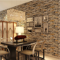 3d papel de parede PVC Brick Wallpaper Roll for Background for Dining Room home Decor wallcoverings