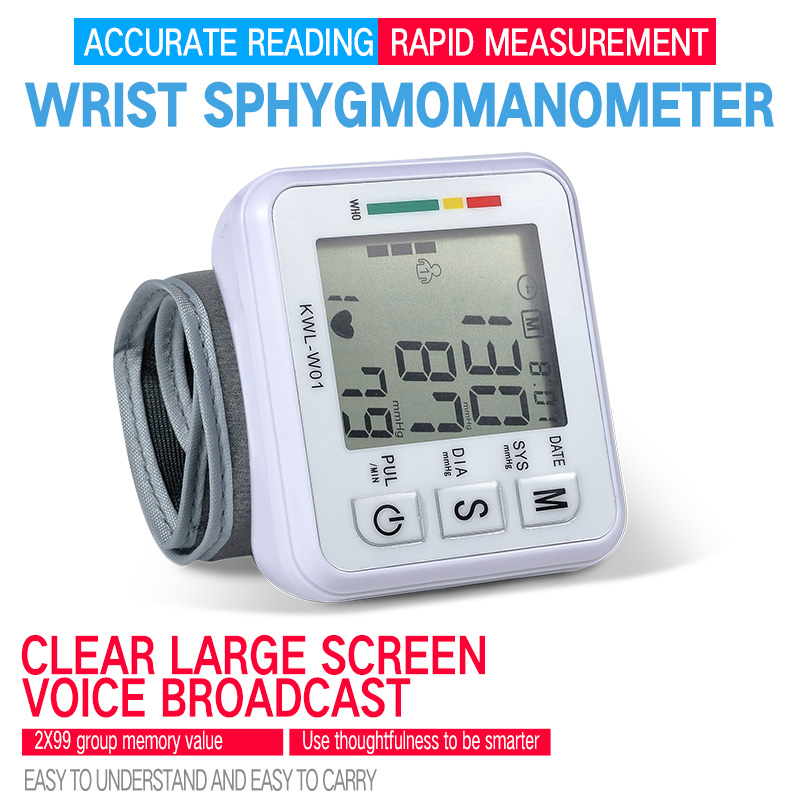 Automatische Handgelenk Blutdruck Monitor Maschine Tonometer tansiyon aleti Tensiometro Herz Rate Monitor Meter Blutdruckmessgerät