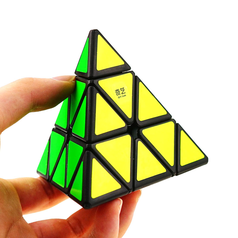 QiYi Triangle Pyramid Pyraminx Magic Cube Puzzle Cubes Twist Cubo Square Puzzle Gifts Educational Toys for Childre