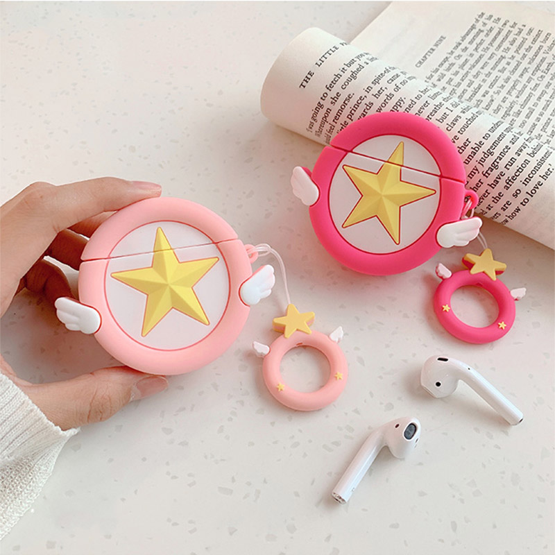 Sailor Moon Transformer For Airpods Case Cute Silicone Bluetooth Earphone Protective Cover Capa Cartoon for Air pods Key Strap-in Earphone Accessories from Consumer Electronics