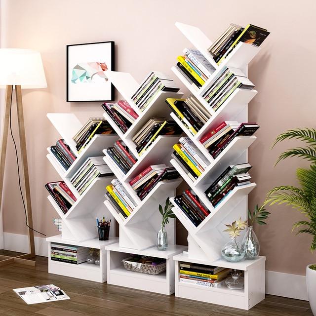 Merveilleux Floor Creative Bookcase Study Book Shelf Tree Frame Combination Creative  Lattice Cabinet Storage Display Stand