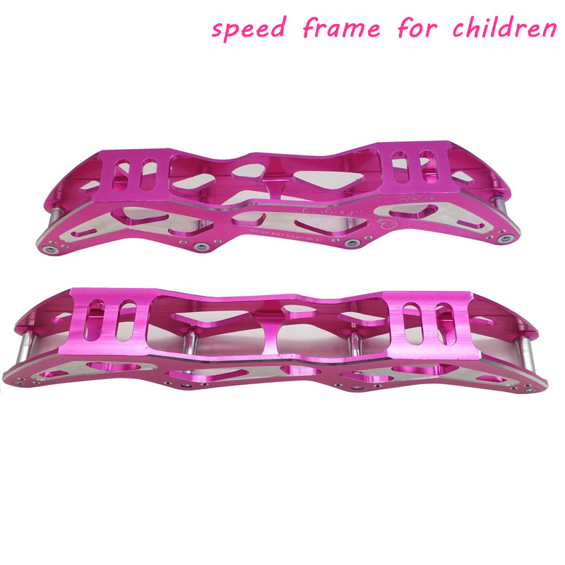 Free Shipping Speed Skate Frame 4x90 4x100 4x110 Pink Color