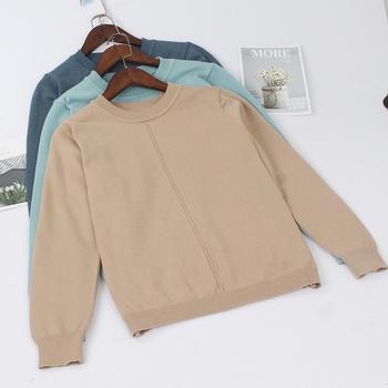 GIGOGOU gruby jesienno-zimowy sweter damski sweter jakość mody sweter z dzianiny miękka góra ciepły kobiecy sweter tanie i dobre opinie Polyester Elastan COTTON STANDARD Kobiety Komputery dzianiny Pełna Stałe Brak O-neck Swetry REGULAR Na co dzień NONE