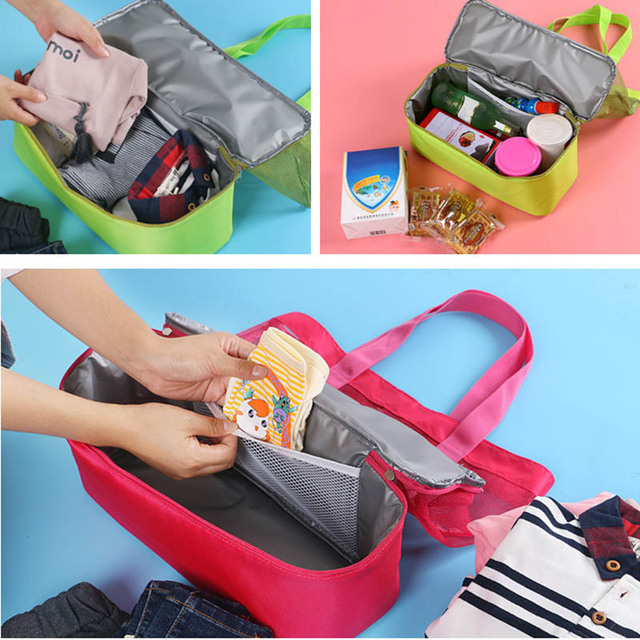 Women's Handbags 2019 High Capacity Women Mesh Transparent Bag Double-layer Heat Preservation Large Picnic Beach Bags Bolsas 6