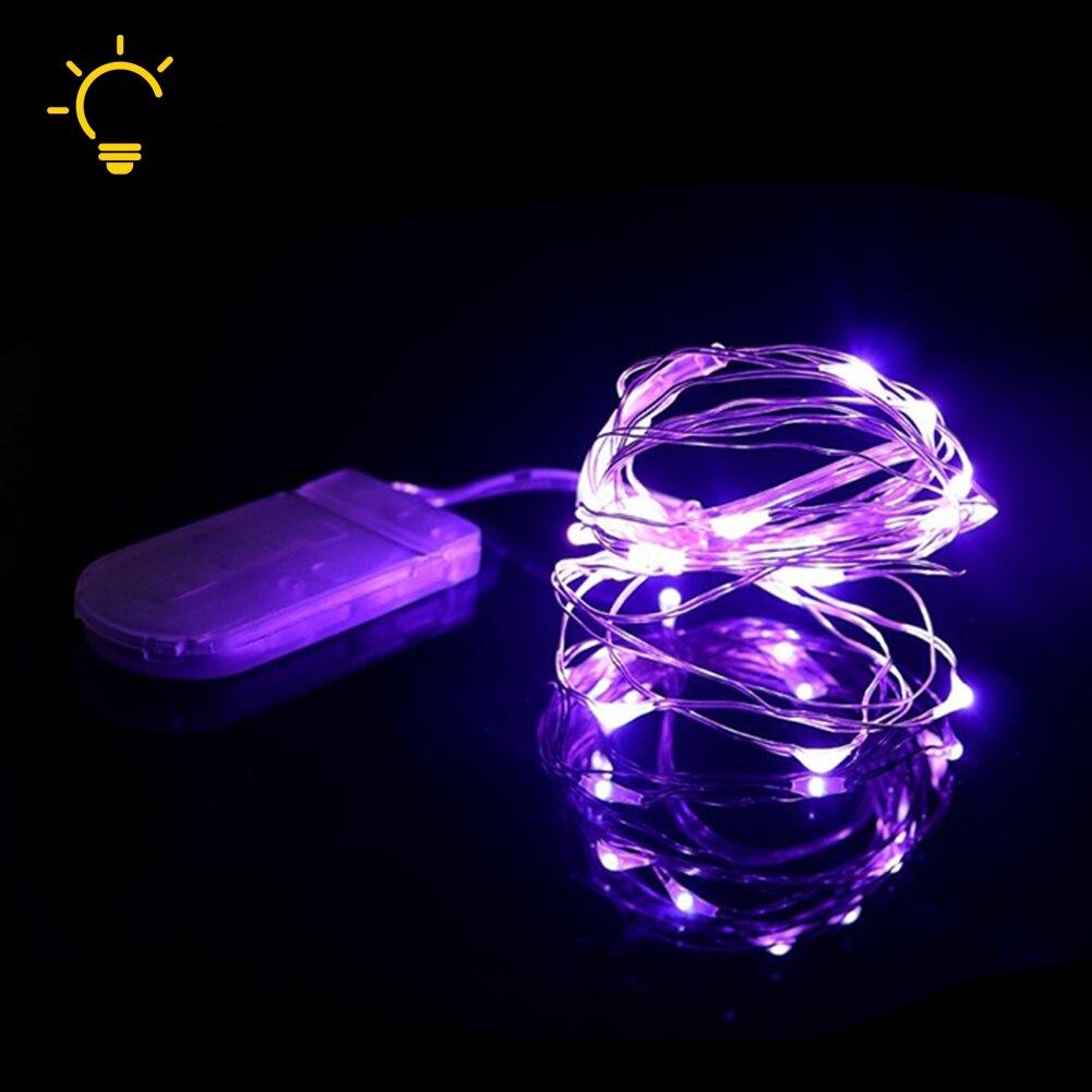 TSLEEN Led streifen 2 mt 20 LED Batterie Betrieben Silber Draht ...