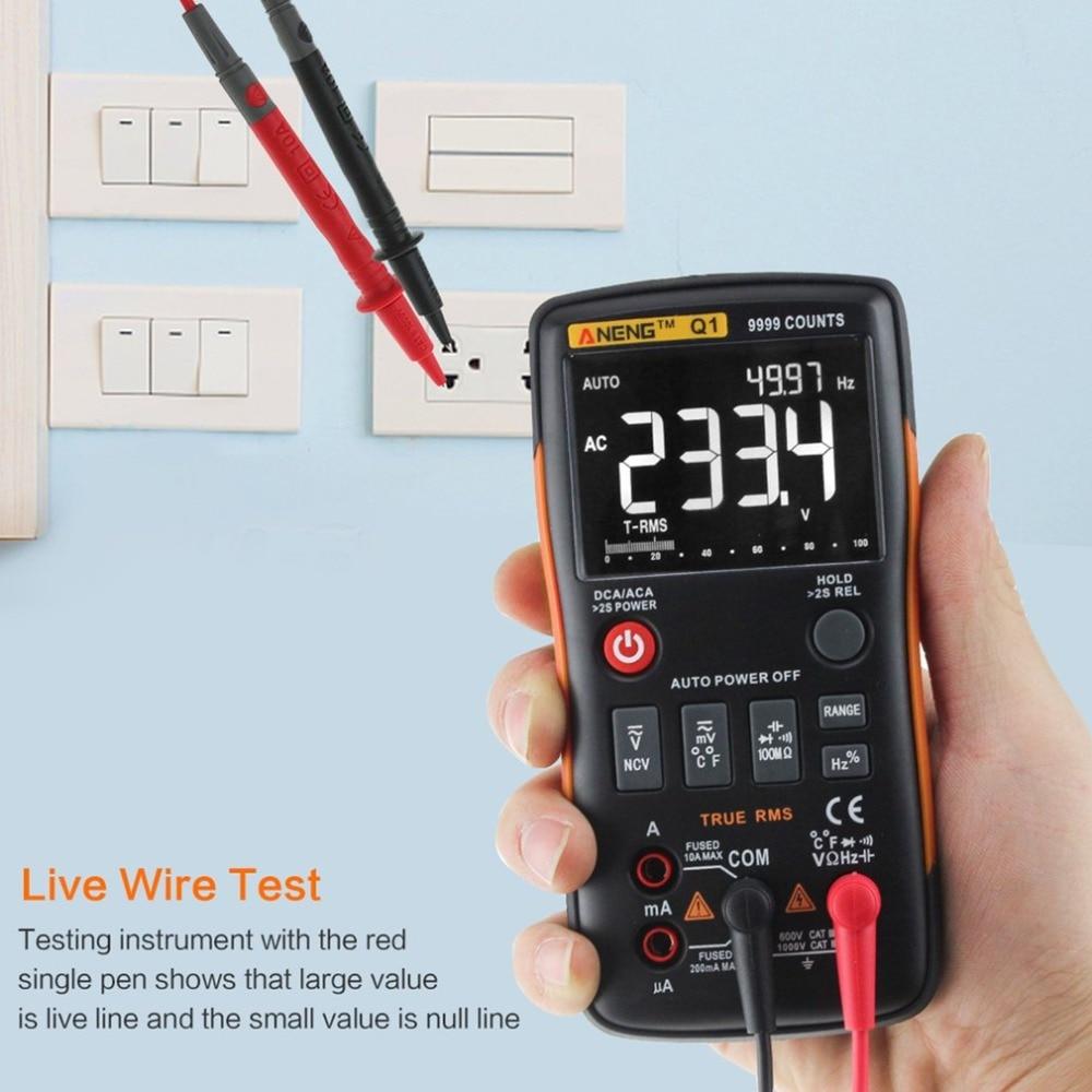 Q1 Numérique Multimètre Multimetro Transistor Mastech Multimetre Pince Multimètre uni Condensateur Testeur t Analogico rm409b Auto Gamme