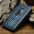 Luxo pu estojo de couro para o iphone 6 6 s/6 plus bolsa 3d cabeça de crocodilo pele saco do telefone tampa articulada para iphone 6/6 s plus caso