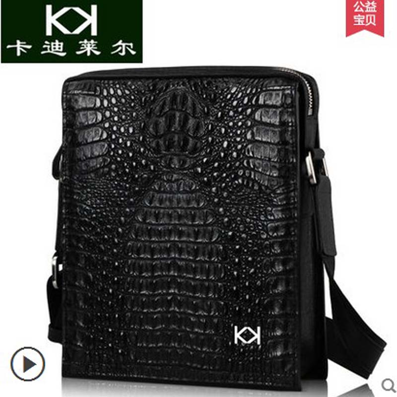 KADILER 2018 new hot free shipping crocodile skin single shoulder bag vertical inclined bag high-end  business briefcases bag yuanyu 2018 new hot free shipping crocodile women handbag wrist bag big vintga high end single shoulder bags luxury women bag
