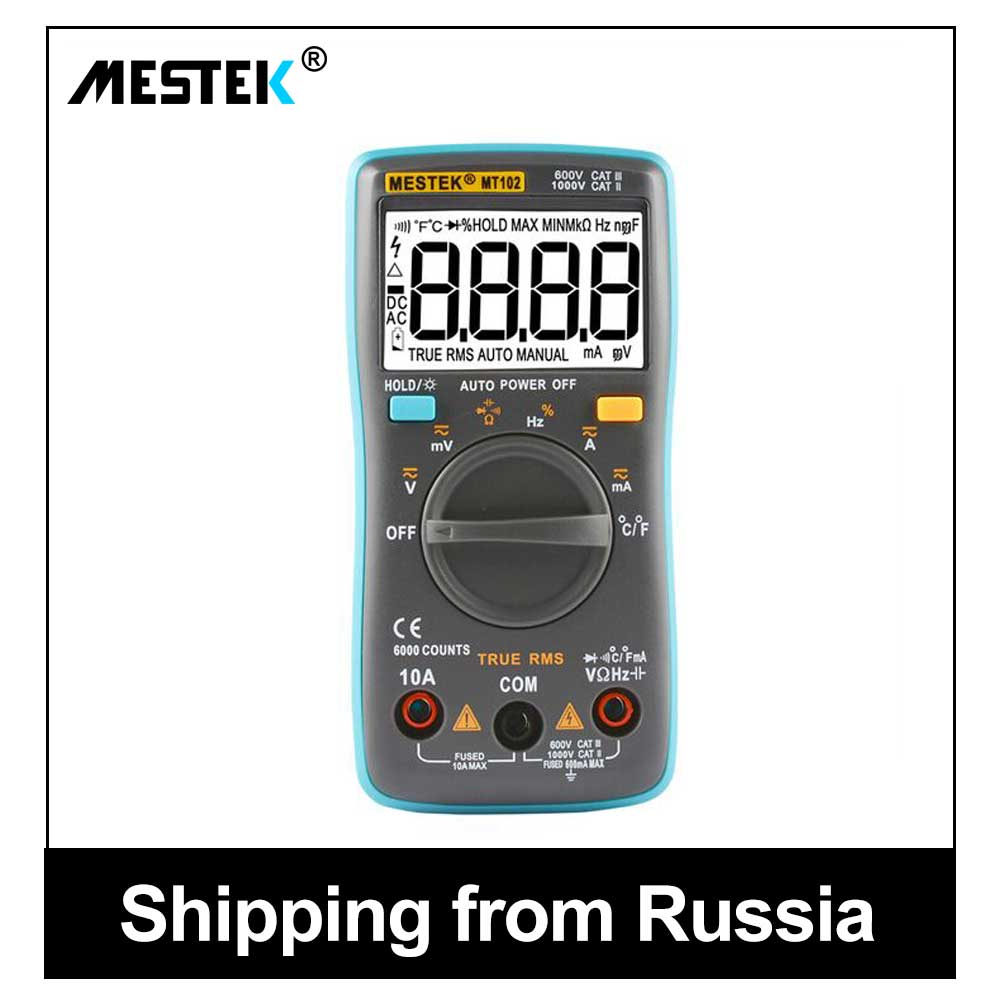 Multímetro digital profesional Sonda de 6000 cuenta medidor digital multímetros de Metro multitester mejor que rm102