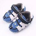 Alta Calidad de la Estrella Modelo Fresco Patchwork Boy Zapatos de Gancho y Bucle TPR Único Bebé Zapatos Deportivos