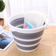 Folding Bucket Portable Car Wash Bucket Silicone Bucket Kitchen Bathroom Outdoor Fishing Bait Folding Round  Accessories Gift10L