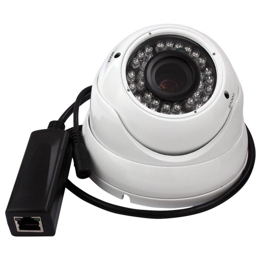 ФОТО 720P HD IR LED WATERPROOF&VANDAL RESIST VARIFOCAL DOME POE IP CAMERA SUPPORT SMART PHONE