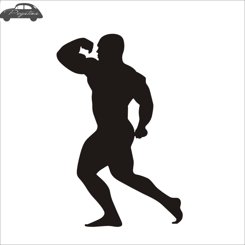 Pegatina Car Gym Sticker Fitness Decal Body-building Posters Vinyl Wall Decals Quadro Parede Decor Mural Gym Sticker hot sale 1pc longhorn hilux 900mm graphic vinyl sticker for toyota hilux decals badges detailing sticker car styling accessories