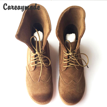 New Handmade real leather Forest Department of literature Ma-Ding boots retro do old British style Sen shoes womens snow