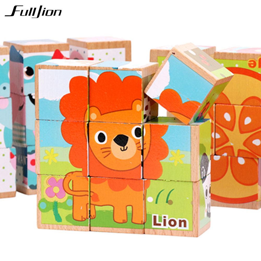 цена на Fulljion Wooden Toys Puzzle Toys Model Jigsaw Puzzle 3D Learning Education Teaser Brain Games Children Box Montessori Maze Gifts