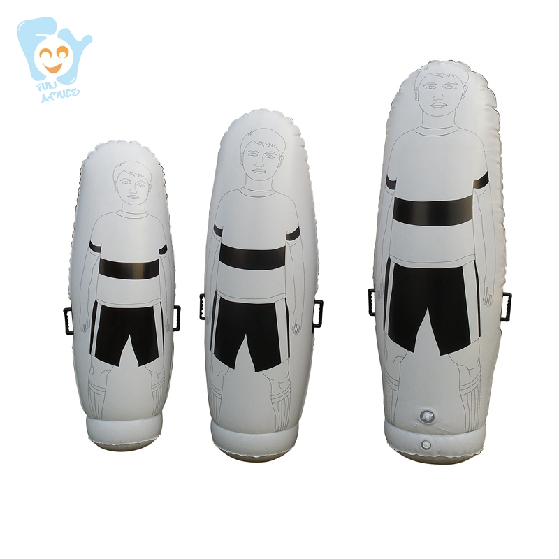 2m/ 1.8m/ 1.6m Adult Child Inflatable Football Training Goal Keeper Tumbler Air Soccer Dummy Mannequin  Free Kick Defender Wall