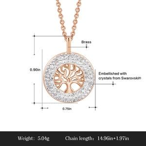 Image 4 - CDE Fashion Luxury Women Necklace Pendant crystals from Swarovski Tree of Life Jewelry Sweet Romance Christmas Gift