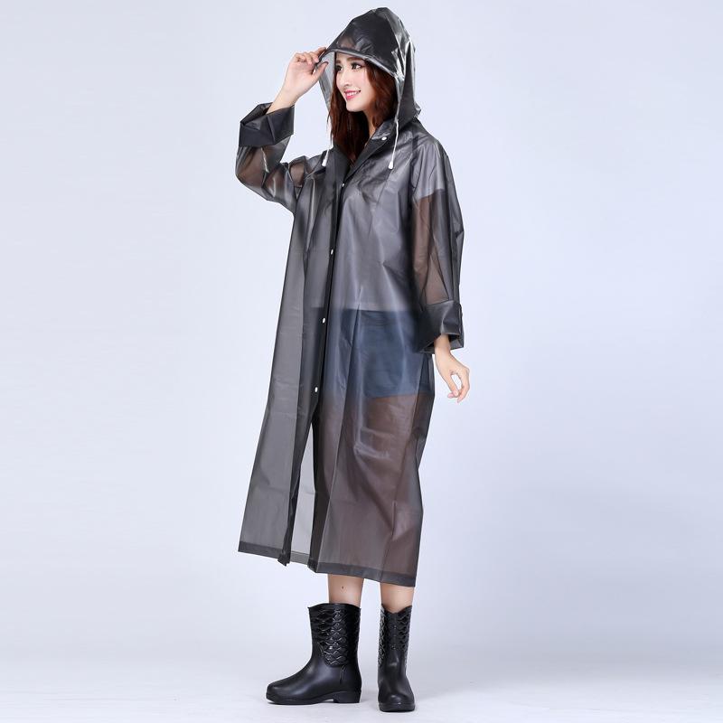 60 pcs Mulheres Moda EVA Transparente NÃO Descartável Poncho Capa de Chuva Portátil capa de Chuva Leve capa de Chuva Para Adultos ZA0487